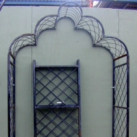 Wrought Iron Scalloped Top Arbor