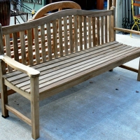 Teak Camel Back Bench