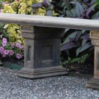 Concrete Lg. Straight Estate Bench