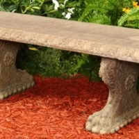 Concrete Greek Key Bench