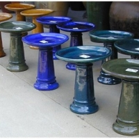 Selection of Glazed Birdbaths