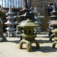 Selection of Concrete Japanese Lanterns